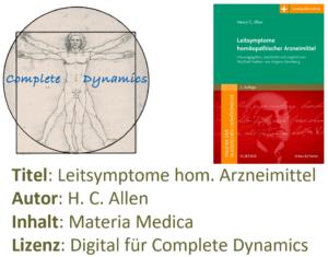 Zusatzlizenz MM: Materia Medica – H. C. Allen – Leitsymptome