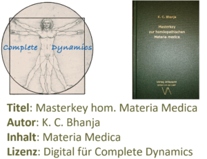 Zusatzlizenz MM: Materia Medica – K. C. Bhanja- Masterkey