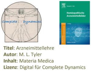 Zusatzlizenz MM: Materia Medica – M. L. Tyler – Arzneimittellehre