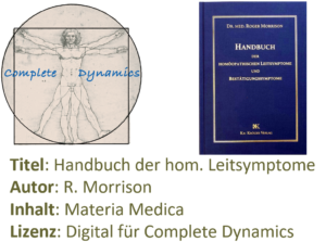 Zusatzlizenz MM: Materia Medica – R. Morrison – Leitsymtome