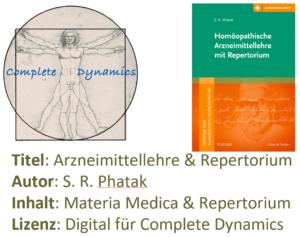 Zusatzlizenz MM & REP: Materia Medica & Repertorium – S. R. Phatak – Arzneimittellehre & Repertorium