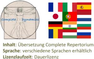 Zusatzlizenz Sprache: verschiedene Übersetzungen