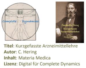 Zusatzlizenz MM: Materia Medica – C. Hering – Kurzgefasste Arzneimittellehre