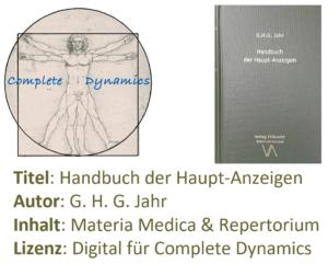 Zusatzlizenz MM & REP: Materia Medica & Repertorium – G. H. G. Jahr- Handbuch der Haupt-Anzeigen
